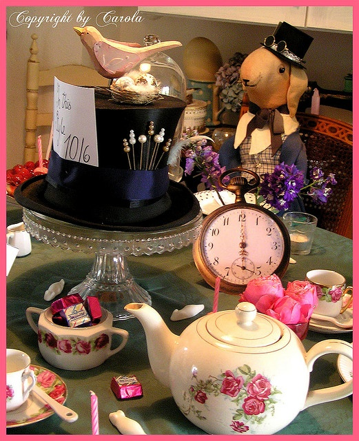 Alice in Wonderland tea party with top hat