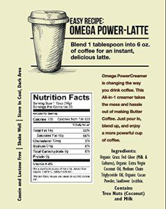 Omega-PowerCreamer-Made-with-Grass-fed-Ghee-Organic-Coconut-Oil-100-Coconut-Derived-MCT-Oil-Premium-Butter-Coffee-Blend-keto-paleo-sugar-free- #keto #ketodiet #ketogenic #ketocoffee