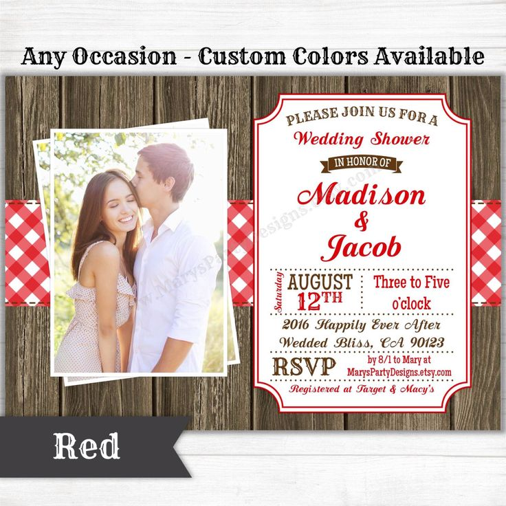picnic bbq western invitation baby bridal wedding shower birthday welcome party rustic gingham wood digital printable evite pdf jpeg - Evite Wedding Invitations