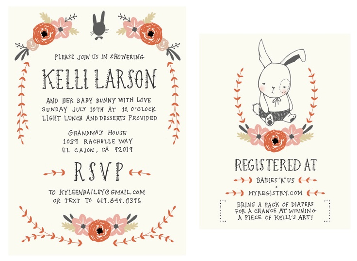 89 best images about baby shower invites and ideas on pinterest, Baby shower invitations