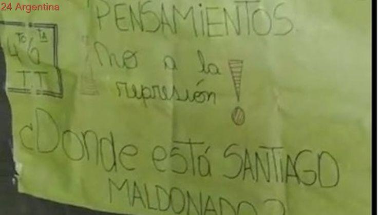 Elecciones 2017: denuncian que fiscales de Cambiemos quisieron sacar carteles de Santiago Maldonado en una escuela