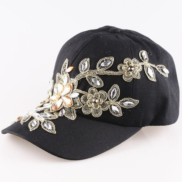 womens baseball caps bling hats with item type pattern floral department name adult brand style casual gender women material cotton strap adjustable
