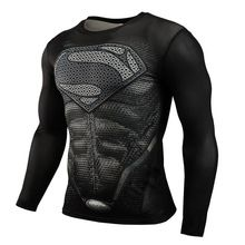 Hot Sale Fitness MMA Compression Shirt Men Anime Bodybuilding Long Sleeve Crossfit 3D Superman Punisher T Shirt Tops Tees //Price: $US $7.43 & FREE Shipping //