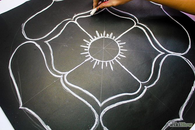 Easy DIY rangoli for beginners
