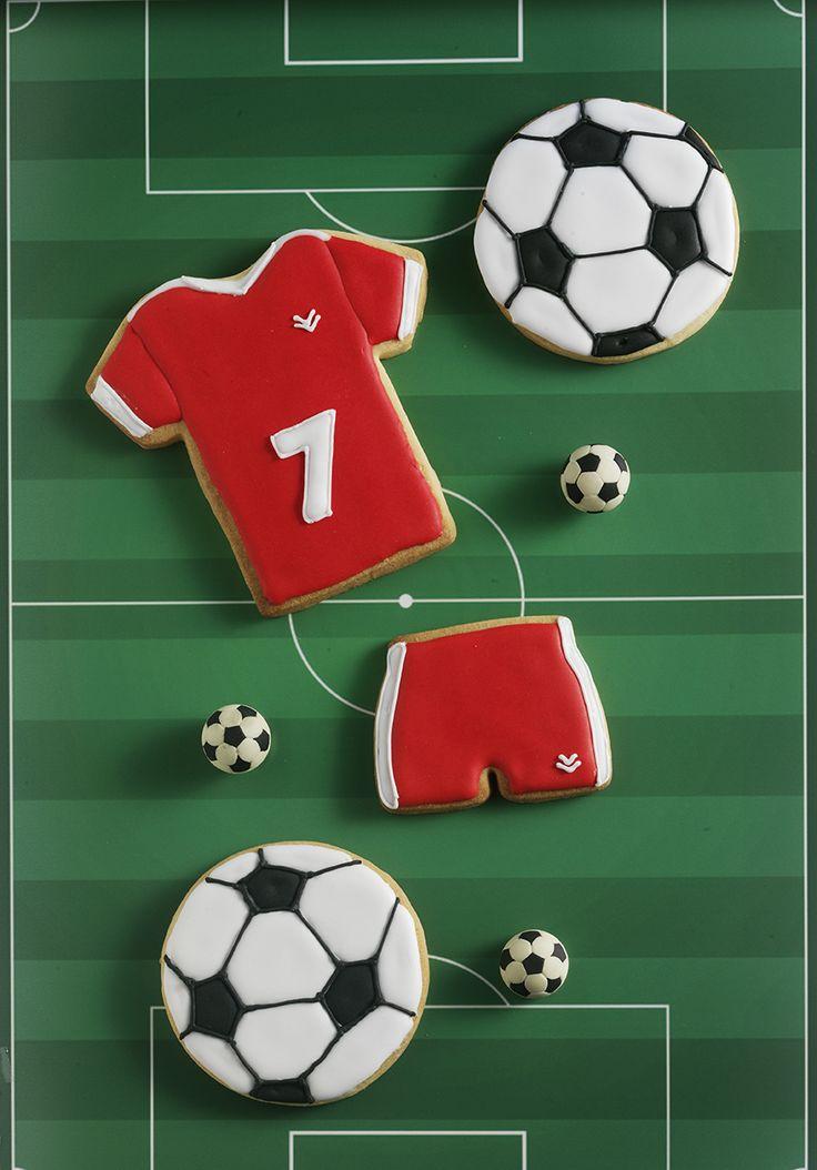 Icing voetbal koekjes