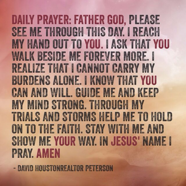 Daily prayerdaily prayer substitute prayer prayer change