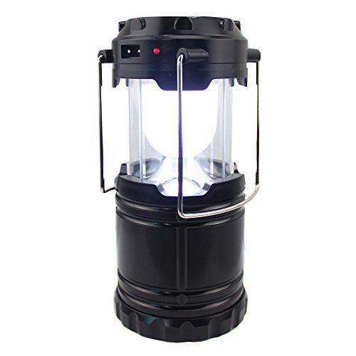 MPTECK @ Lampe Solaire Portable Rechargeable Lumière de Camping Lanterne pour Extérieur Tente Randonnée Pêche Urgence Chasse Réparation de…