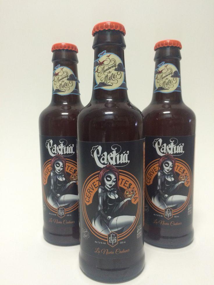 Cerveza Castua, La Novia Cadaver. Cervezas de estilo Pumpkin Ale.