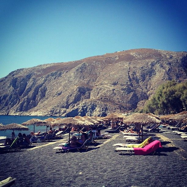 Instagram photo taken by @crisdiass - Kamari beach #Santorini