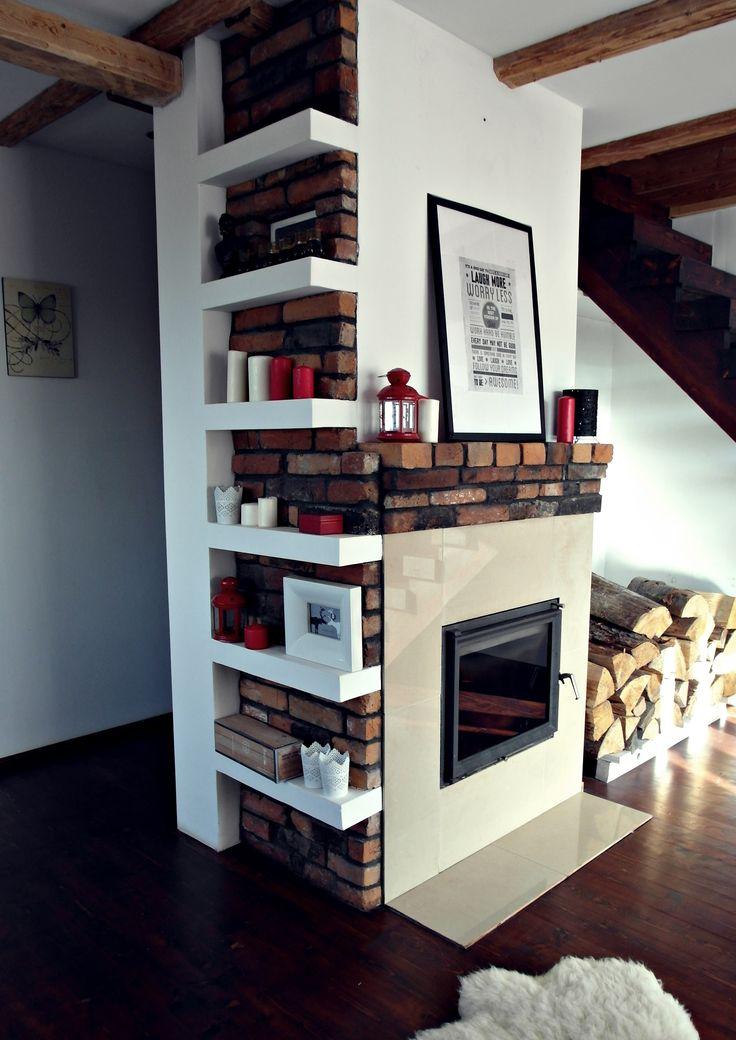 Living room fireplace brick