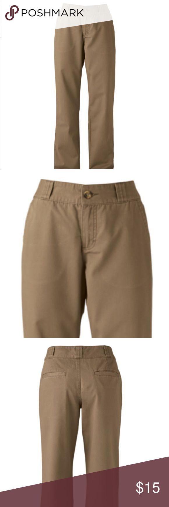 "Size 14 Khaki school pants Cabelas Chino pants. Color Khaki sz 14 (2 available) Front and back pockets. 2"" waistband with 1"" belt loops. 100% cotton twill. Worn several times but no stains or rips. Cabela's Pants Boot Cut & Flare"