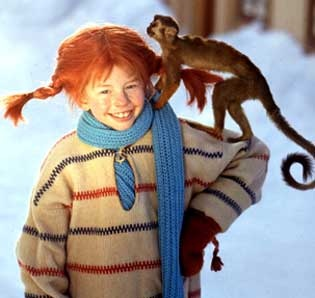 Pippi Longstocking. I sooo wanted to be her as a kid!
