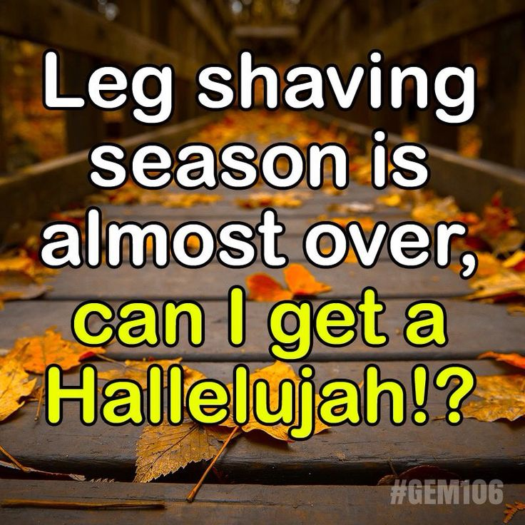 Leg shaving season