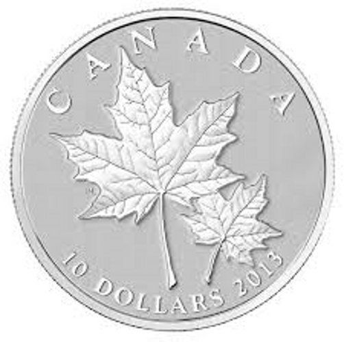 2013 Canada $10 Fine Silver Maple Leaf Coin, Sugar Maple Leaves  Price : $29.00  Ends on : 3 days Order Now