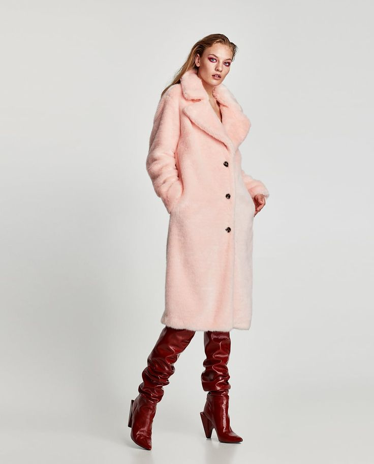 Image 1 of COLORED FAUX FUR COAT from Zara