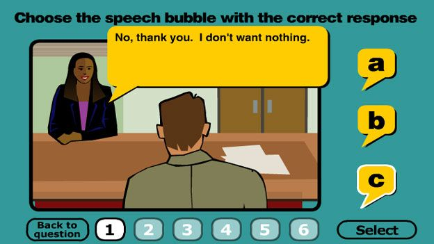 Click to play 'Double negatives game'