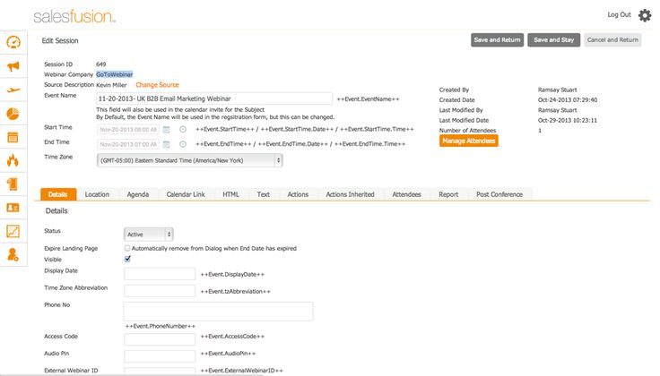 Webinars are, more so than ever, an integral lead and demand generation tool. Why then should webinars be created and managed outside of your core marketing platform?  Salesfusion makes creating, managing and tracking #webinar campaigns inside of the marketing platform a snap with our webinar event solution, FusionCast™. #MarketingAutomation