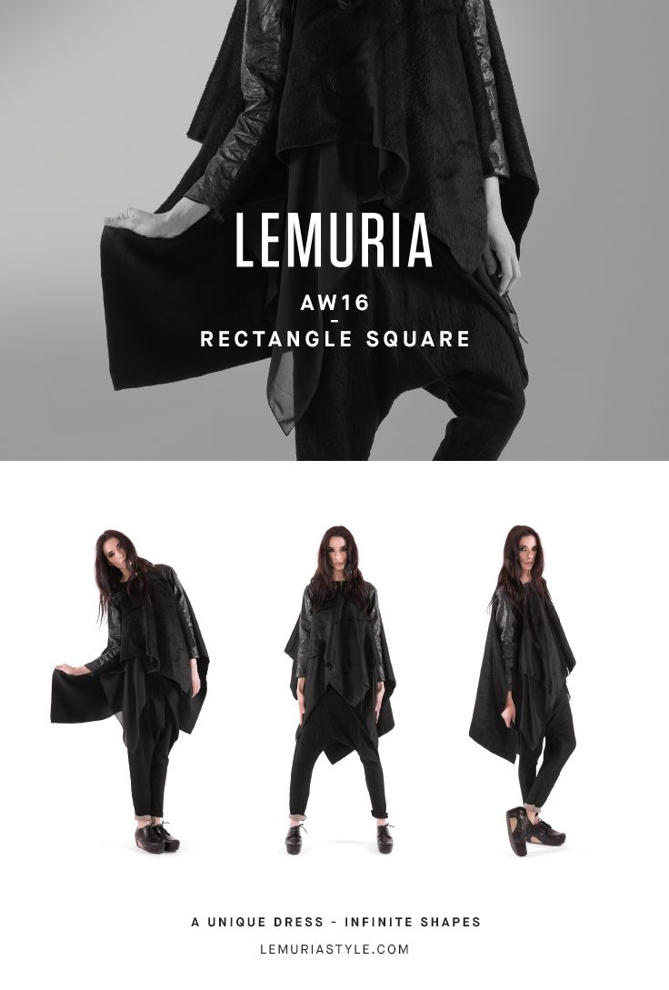 Deconstructed coat in alpaca wool and metallic fibre. #woman #clothing #multifunctional #convertible #dress #italy #brand #designclothing #design #italianbrand #boutique #cotton #jersey #lemuria #collection #dress #overall #aw16