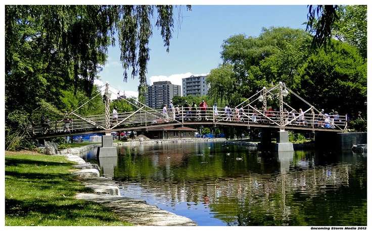 view of Kitchener, Ontario from Victoria Park