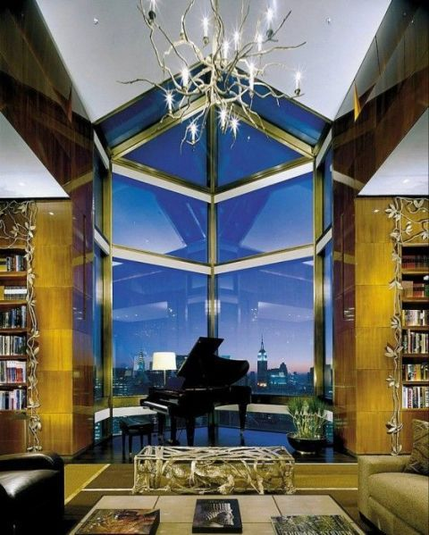 North America's most expensive hotel suite is the Ty Warner Penthouse Suite at the Four Seasons in NYC, which costs a non-negotiable $45,000 a night. The suite, which took seven years and $50 million to build, sits 800 feet above Manhattan and offers 360-degree views of the city. Visitors to the suite are treated to a personal butler, chauffeured Rolls-Royce, personal trainer and a series of impeccably decorated rooms.