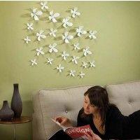 Umbra White Wallflower Wall Décor Set