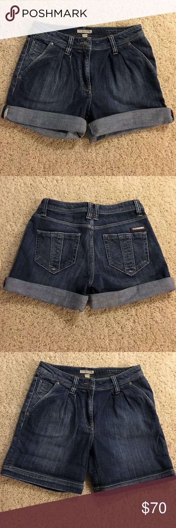 "Authentic Burberry Denim Shorts. Size 26. Excellent condition. Waist measures at 13"" laid flat. Can be worn rolled or down. Burberry Shorts Jean Shorts"