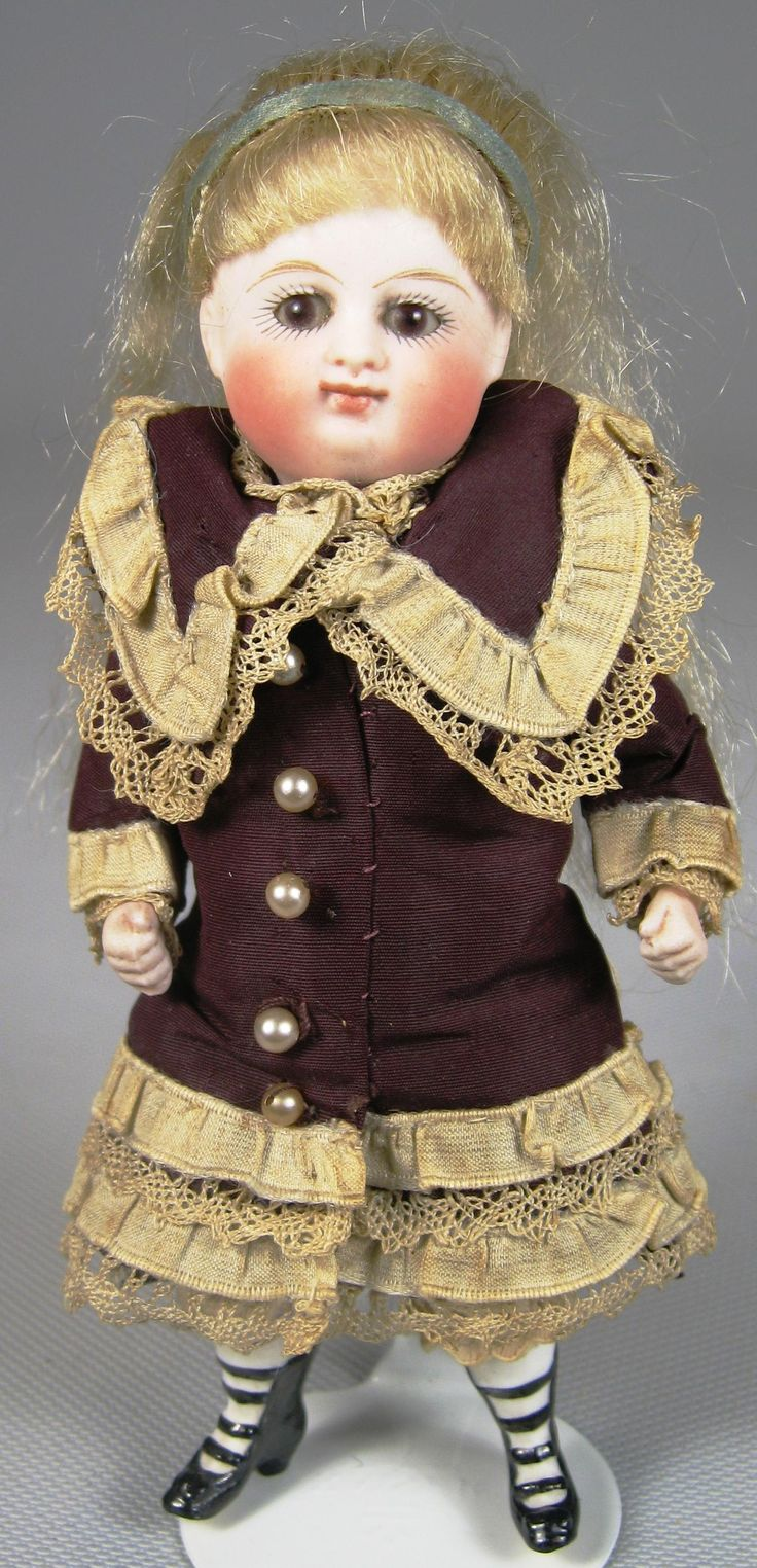5.5 All Bisque Closed Mouth Kestner Pouty Doll A/O Multi ...