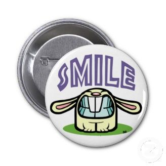 Popular Cool Pin Buttons. SMILE toothy rabbit :)