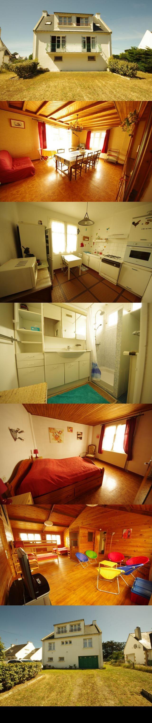 maison 5 pieces 124 m2 SAINT PIERRE QUIBERON Cote sauvage  Portivy. Sur un terrain de 811 m2, maison bien entretenue exposee plein SUD composee comme suit : rdc : garage, chaufferie, atelier, salle d'eau + wc. A l'etage : entree, salon/sejour aspectant sur balcon plein sud, deux chambres, salle d'eau, wc, cuisine. A l'etage : dortoir de 40 m2 environ, bureau, dressing, wc avec point d'eau. dont 5.50 % honoraires TTC a la charge de l'acquereur.