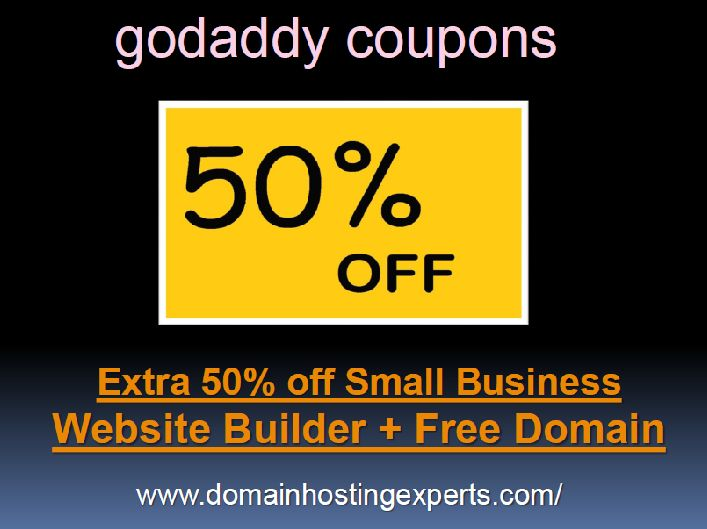 Upto 80% off with Godaddy Coupon and promo code! Domain Name Registrations Deals from $0.99 from Godaddy, Network Solutions Register.com and more!  Visit-http://www.domainhostingexperts.com/godaddy_coupons.aspx