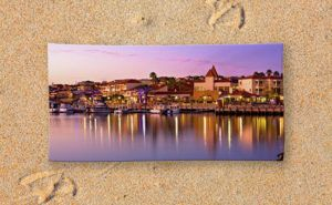 Marina Sunset Beach towel designed by Dave Catley and available in our Dave…