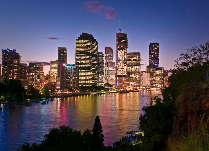 Brisbane Australia At Dusk