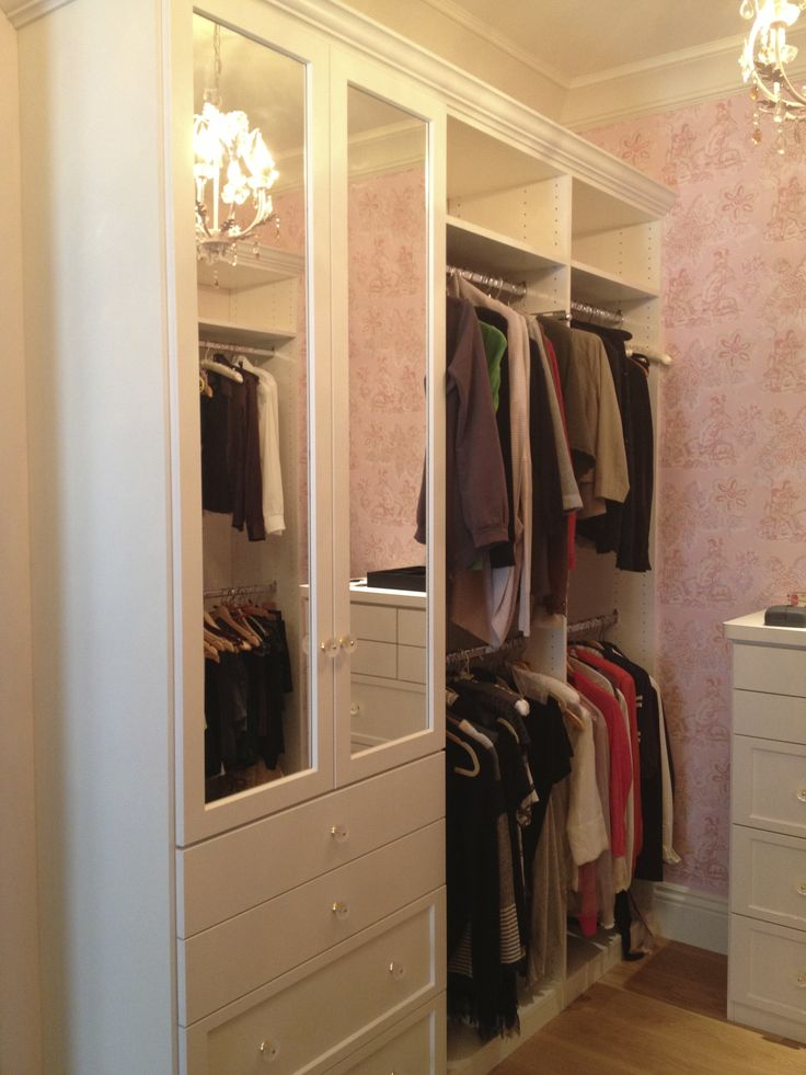 Custom Closet With Mirror And Awesome Wallpaper In This Brand New Home In  Palo Alto,