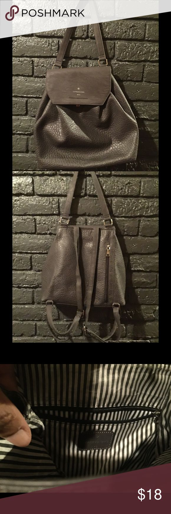 Selling this Gray backpack from Marshalls Store. on Poshmark! My username is: 4everilovedeals. #shopmycloset #poshmark #fashion #shopping #style #forsale #Handbags