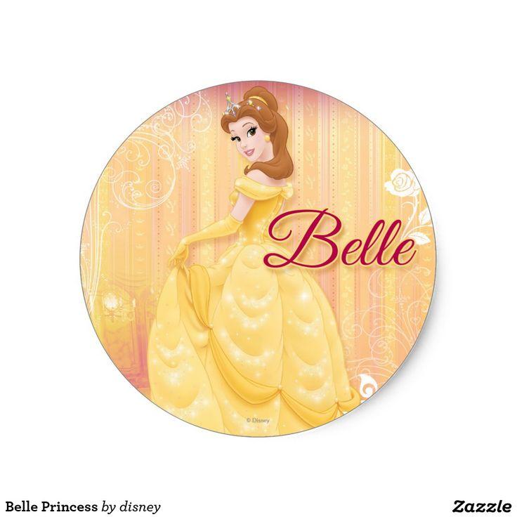Belle princess classic round sticker