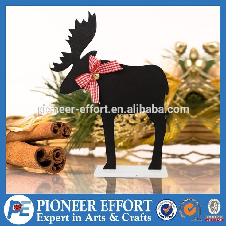 christmas decoration wooden black deer with bow home decorations high quality, View christmas decoration wooden, PE Product Details from Shanghai Pioneer Effort Arts & Crafts Company Limited on Alibaba.com