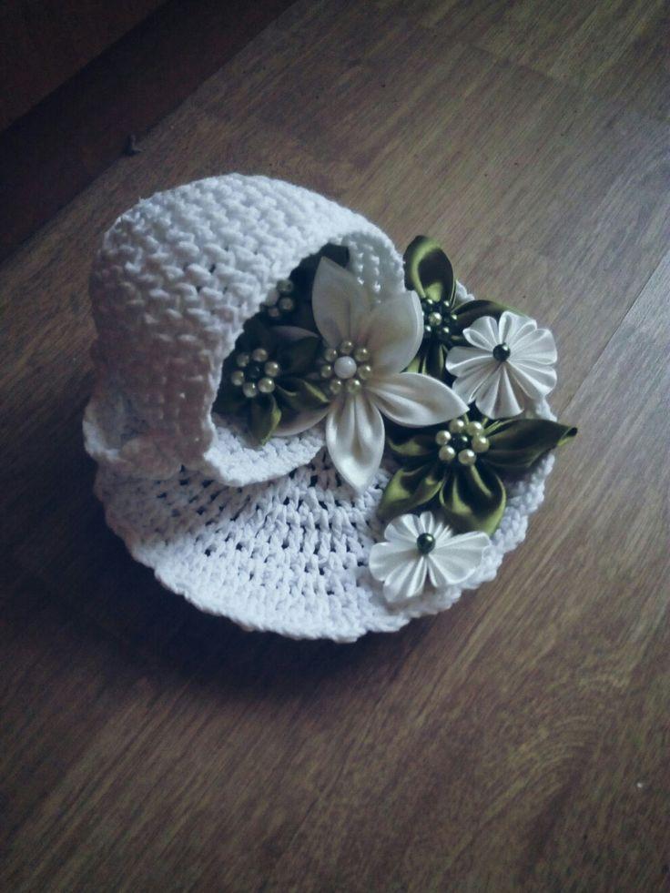 Kanzashi, flowers, crochet