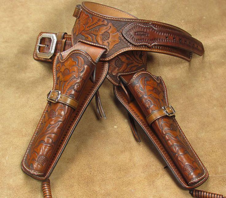 western leather holster belt
