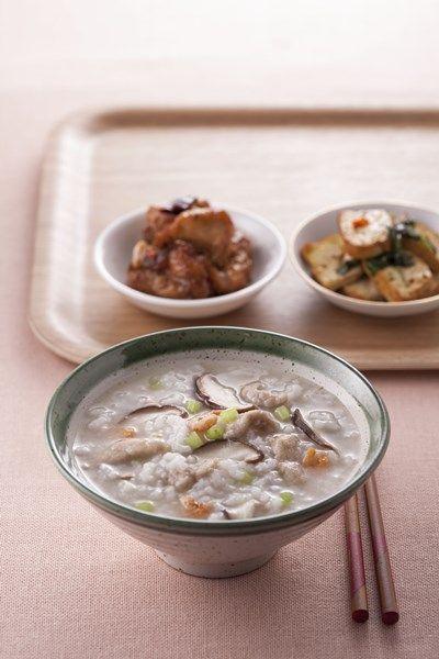 mushroom pork congee | Taiwanese food