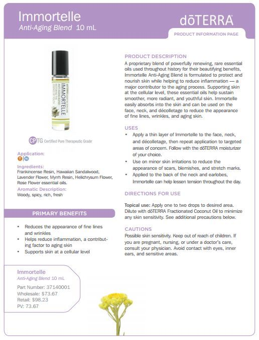 Immortelle Essential Oil Uses