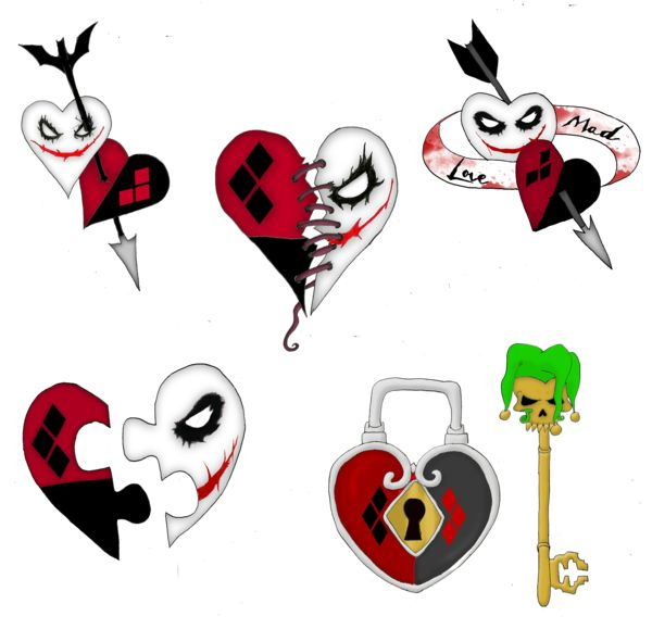 Mad Love Tattoo design 2 by Lttle-Horrors.deviantart.com on @DeviantArt