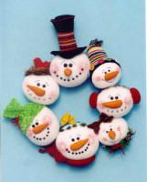 Snowman Ball wreath Pattern