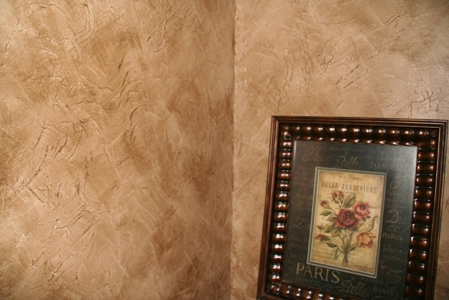 Faux Finished Walls With Tissue Paper And Glaze For The