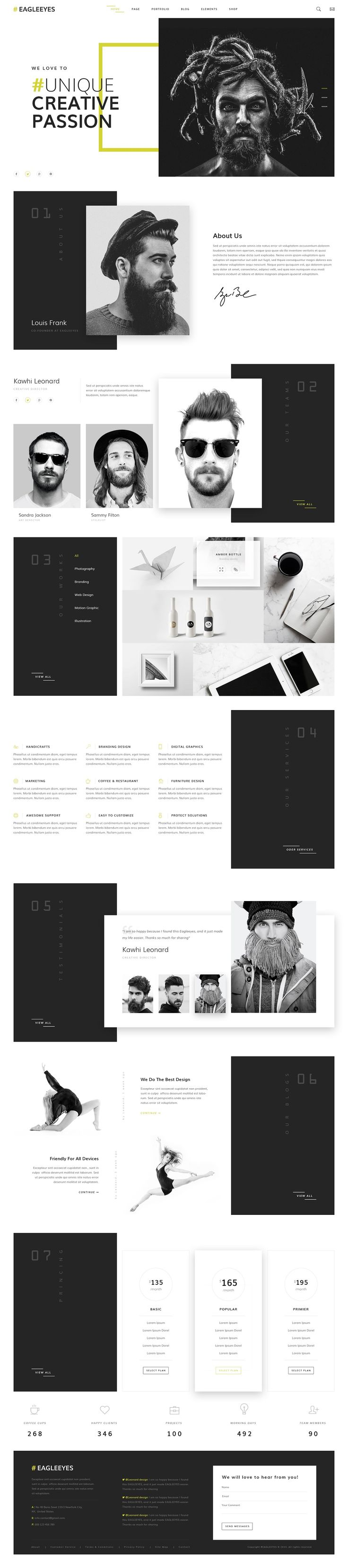 Creative Simple WP Themes #DESIGN
