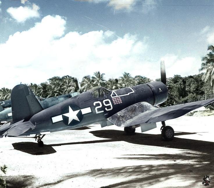 Solomon Islands 1944 Ira Kepford's F4u Corsair.