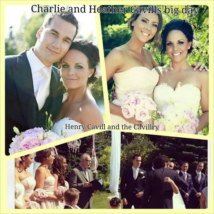 Lovely wedding-- Charlie Cavill and his new wife plus the Cavill family (Henry's the one with the long curls!!!)