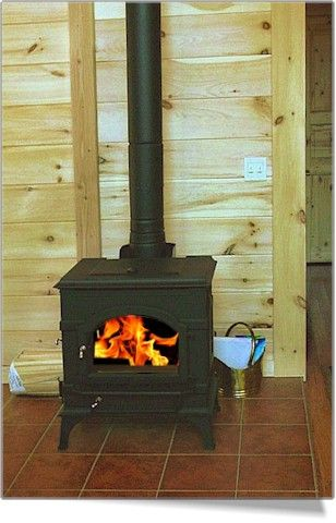 Rustic Wood-Burning Stove Ideas | Orwell Construction Co. of Orwell, Vermont - Log Home and Log Cabin ...