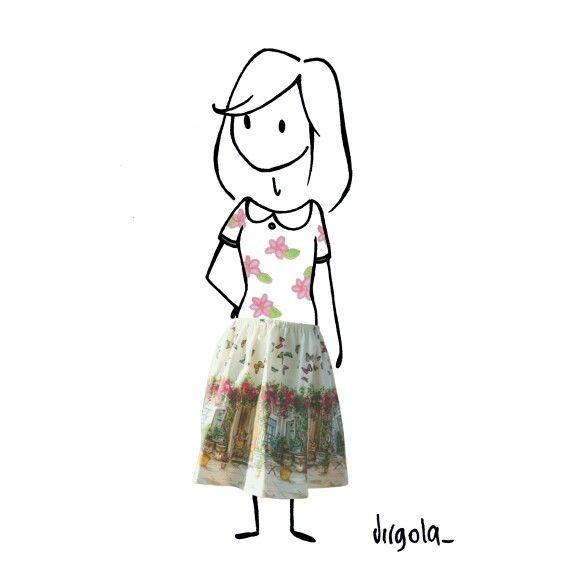 La mia gonna del cuore. . Con una modella d'eccezione. . @virgola