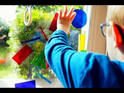 Foliowe figury, zabawy edukacyjne, nauka figur, nauka kolorów, zabawy sensoryczne