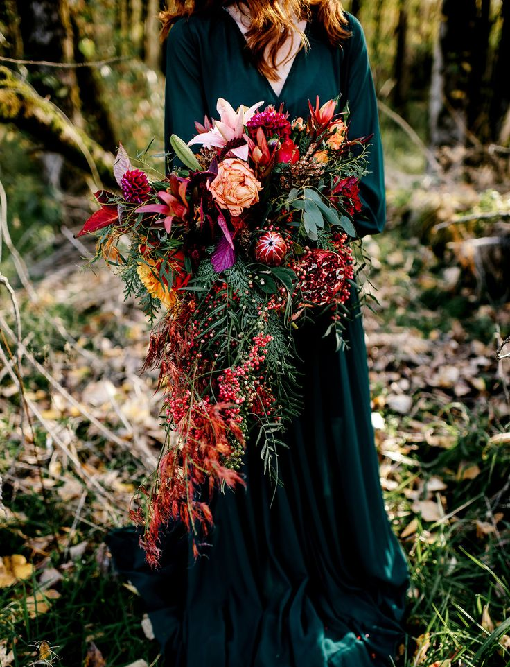 Wild + Free Autumn Elopement Inspiration | Green Wedding Shoes | Weddings, Fashion, Lifestyle + Trave